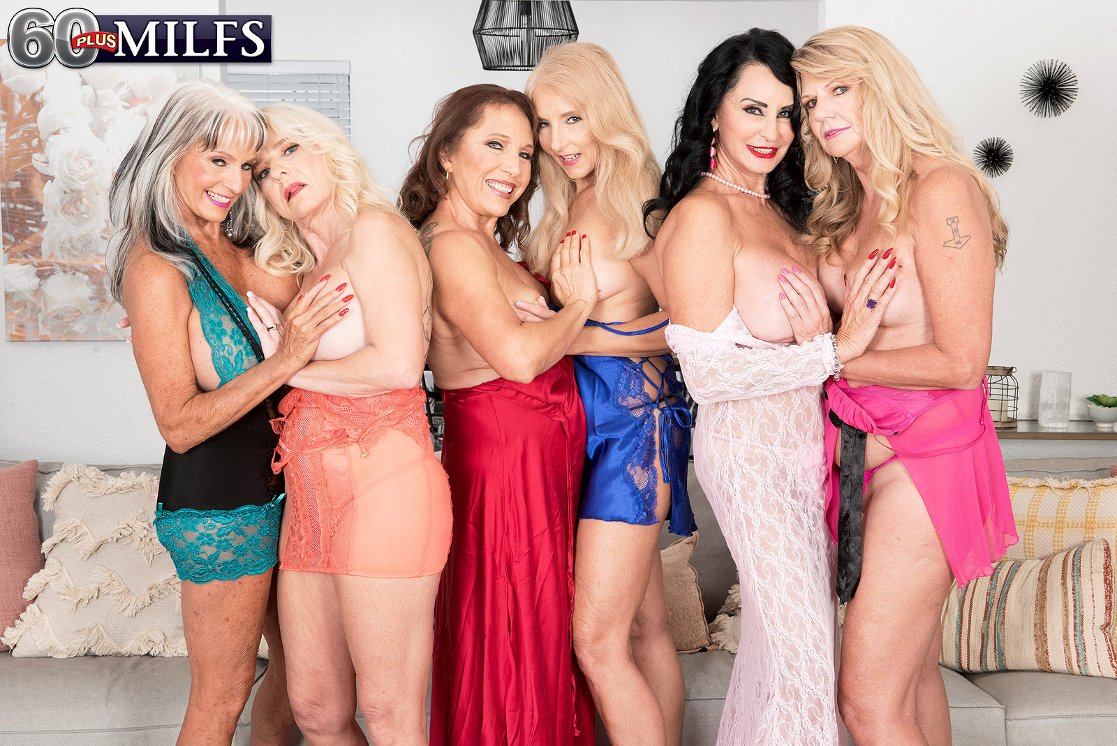 Porn Granny Orgy the first-ever six-way granny orgy